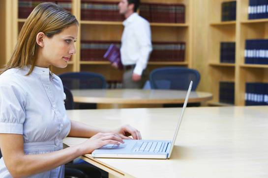 Paralegal working on a case