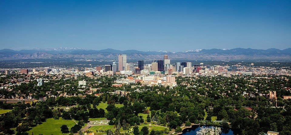 Colorado Urban Denver City Cityscape Skyline