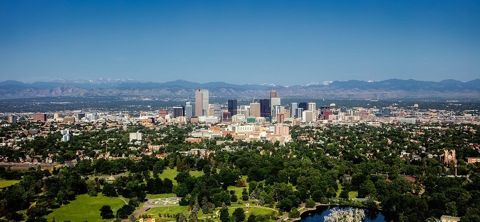 Colorado Urban Denver City Cityscape Skyline